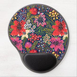 Tapis de souris floral lumineux vintage de gel de