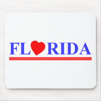 Tapis De Souris Florida coeur rouge