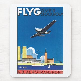 Tapis De Souris Flyg au-dessus de Stockholm