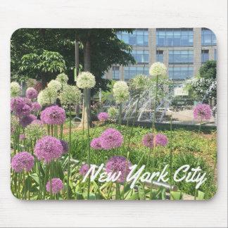 Tapis De Souris Fontaine d'allium de cercle de NYC New York City