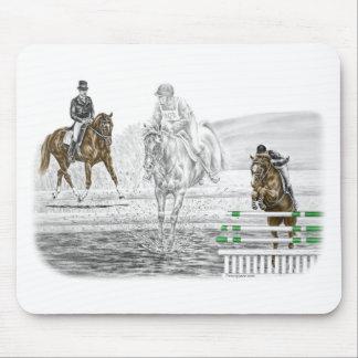 Tapis De Souris formation combinée de chevaux de trois jours de