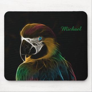 Tapis De Souris Fractale colorée de perroquet de Digitals
