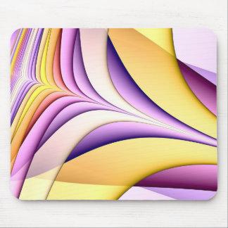 Tapis De Souris Fractale colorée par pastel. Jaune, rose, pourpre