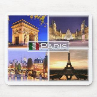 Tapis De Souris Franc France - Paris par nuit - Arc de Triomphe