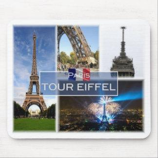 Tapis De Souris Franc France - Paris - Tour Eiffel -