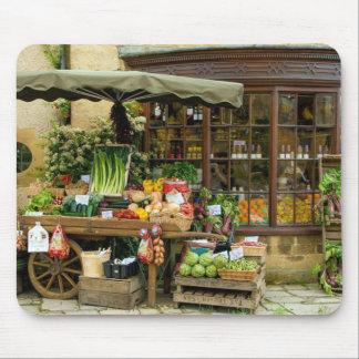 Tapis De Souris Fruit et magasin anglais coloré de village de Veg