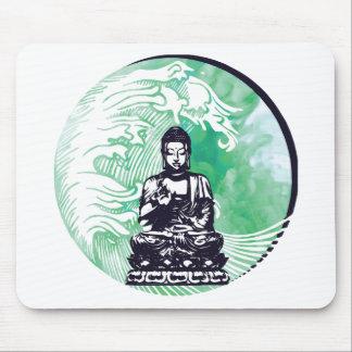 Tapis De Souris Fumée d'émeraude de vague de Bouddha d'ouragan