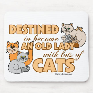 Tapis De Souris Future Madame folle Funny Saying Design de chat