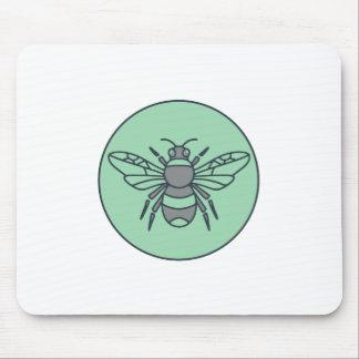 Tapis De Souris Gaffez la ligne mono de cercle d'abeille