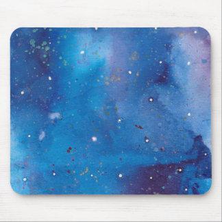 Tapis De Souris Galaxie bleu-foncé