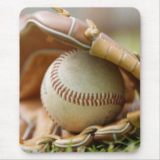 Tapis De Souris Gant et boule de base-ball