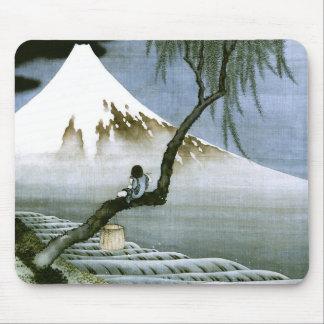 Tapis De Souris garçon de 北斎 et beaux-arts de Mt Fuji