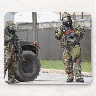 Tapis De Souris Garde de support de soldats à une intersection