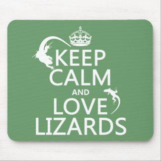 Tapis De Souris Gardez le calme et aimez les lézards - toutes les