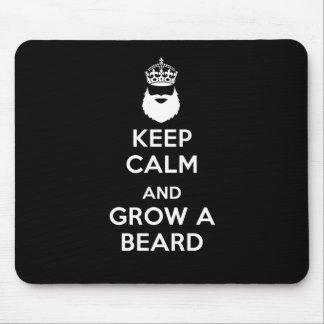 Tapis De Souris Gardez le calme et laissez-vous pousser une barbe