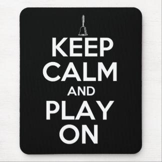 Tapis De Souris Gardez le calme et le jeu sur des clochettes