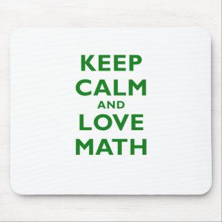 Tapis De Souris Gardez le calme et les maths d'amour