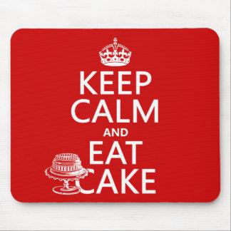 Tapis De Souris Gardez le calme et mangez le gâteau