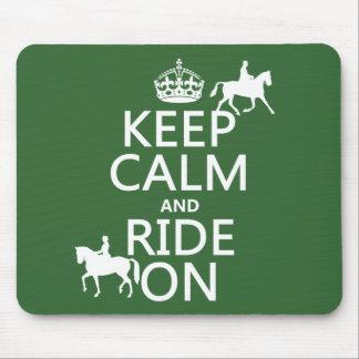 Tapis De Souris Gardez le calme et montez dessus - les chevaux,