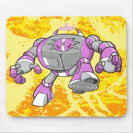 Tapis de souris géant de cyborg de robot de guerri