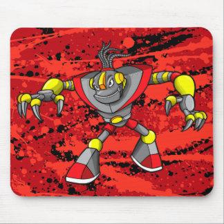 Tapis de souris géant de guerrier de cyborg de rob