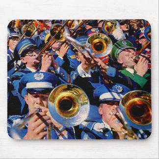Tapis De Souris geeks de bande de foule de trombone AKA fou