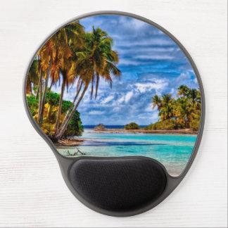 Tapis De Souris Gel Aquarelle hawaïenne de plage de joli été mignon