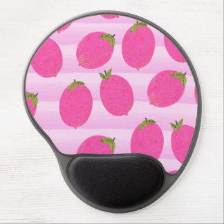 Tapis De Souris Gel Aquarelle rose de fruit d'été de limonade de