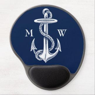 Tapis De Souris Gel Arrière - plan blanc vintage de bleu marine de