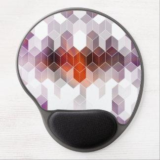 Tapis De Souris Gel Art pourpre de cube en brume