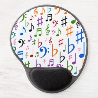 Tapis De Souris Gel Beaucoup de notes musicales et de symboles