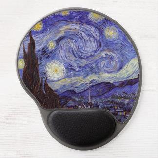 Tapis De Souris Gel Beaux-arts de cru de nuit étoilée de Vincent van