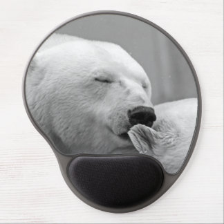 Tapis De Souris Gel Bel ours blanc de repos