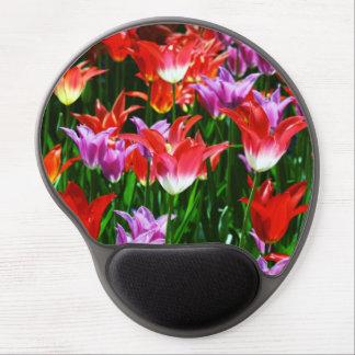 Tapis De Souris Gel Belles tulipes de triomphe de différentes couleurs