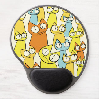 Tapis De Souris Gel Bouton coloré de chats de sort de regarder