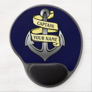 Tapis De Souris Gel Capitaine de bateau personnalisable votre ancre