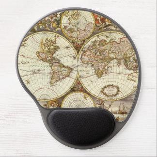 Tapis De Souris Gel Carte antique du monde, C. 1680. Par Frederick de