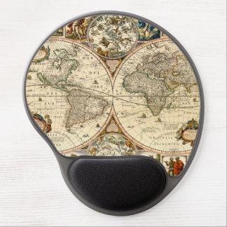 Tapis De Souris Gel Carte historique détaillée