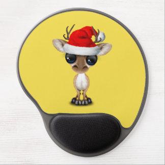 Tapis De Souris Gel Cerfs communs de bébé utilisant un casquette de