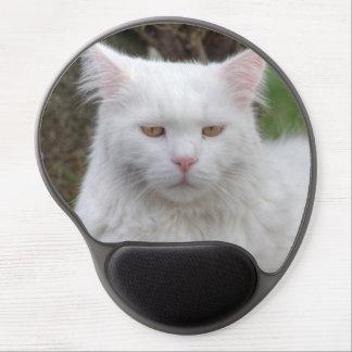 Tapis De Souris Gel Chat blanc sérieux