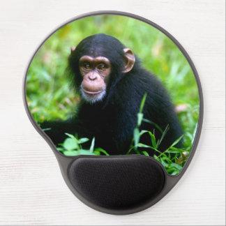 Tapis De Souris Gel Chimpanzé de bébé dans l'herbe