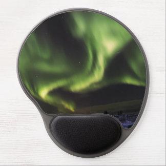 Tapis De Souris Gel Ciel vert effrayant de borealis de l'aurore en