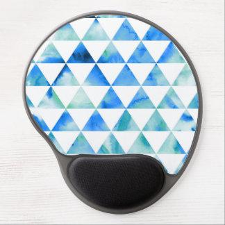 Tapis De Souris Gel Conception bleue de triangle d'aquarelle