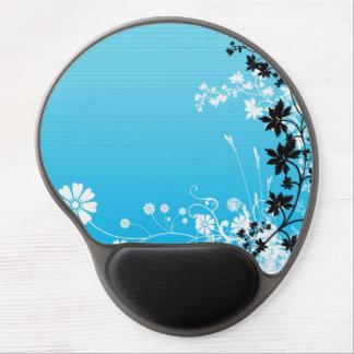 Tapis De Souris Gel Conception florale bleue à la mode