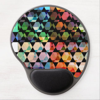 Tapis De Souris Gel Conception graphique d'hexagone abstrait
