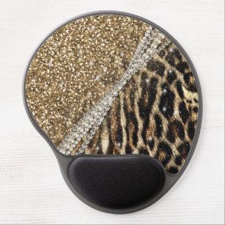 Tapis De Souris Gel Copie animale de fourrure de faux de beau léopard