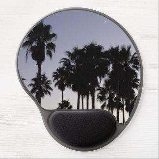 Tapis De Souris Gel Crépuscule avec la scène tropicale de palmiers