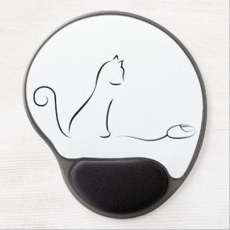 Tapis De Souris Gel Dessin au trait chat avec la souris