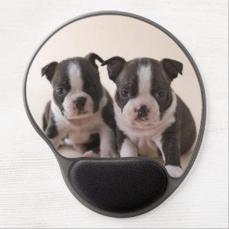 Tapis De Souris Gel Deux chiots de Boston Terrier