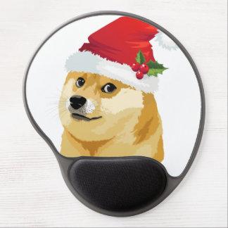 Tapis De Souris Gel Doge de Noël - doge de père Noël - chien de Noël